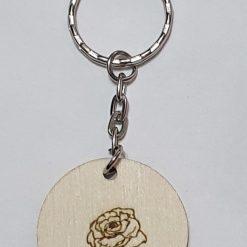 Wooden key ring flower