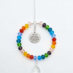 Nanny and Grandchildren Mother's Day Rainbow Sun Catcher
