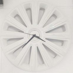 Wheel Trim Clock in White
