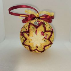 Yellow floral hanging ornament design