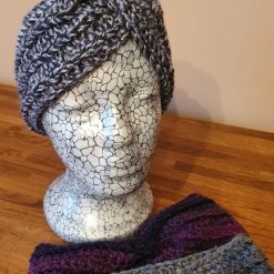 Crocheted patterned ear warmers..various colours
