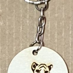 Wooden key ring tiger