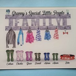 Personalised Welly Family Chopping Board