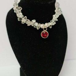 A large semi precious gemstone bead bracelet