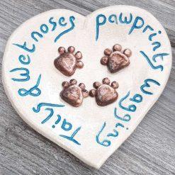 Small pawprint dish