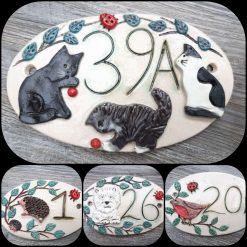 Custom made,  House Number plaques