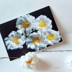 Birthday Card with Crochet Pattern