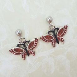 'Insect' Butterfly Tibetan Silver Earrings   Birthday Christmas Mothers Mother's Day Valentine Anniversary Easter Jewellery Gift Ideas   Charming Gifts