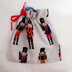 Gift bag. Toy soldiers fabric for you to fill with treats