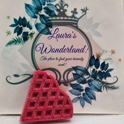 Love Story waffle heart wax melt
