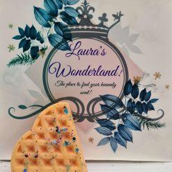 Unicorn Sparkle waffle heart wax melt