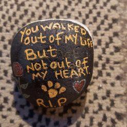 --sold--Pet memorial beach pebble