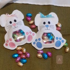 Pink or blue Bunnies easter egg holders