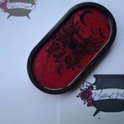 Gothic handmade resin tray