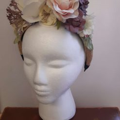 Half Crown Flower Headband