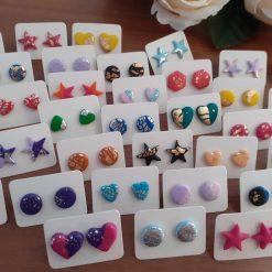 *Lucky dip* 2 polymer clay stud earrings