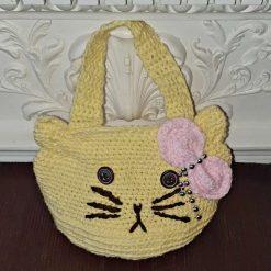 Girl's hand knitted handbag