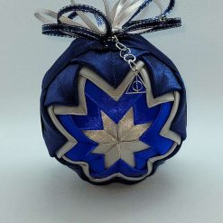 Blue's/silver inspired hanging ornament