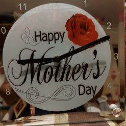Mothers Day Glass Standing Clock