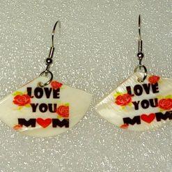 I love you mom earrings