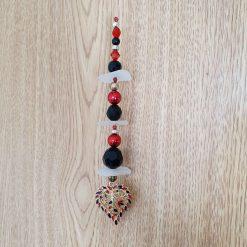 Seaglass and bead suncatcher 7