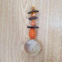 Seaglass and bead suncatcher 6