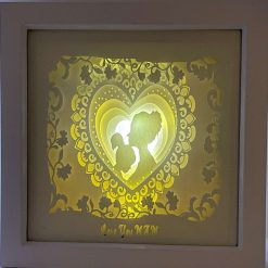 Mother and Child 3D Light Box Framed Picture