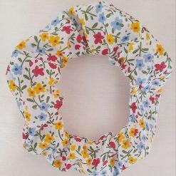 Hair scrunchie. Spring flowers print