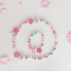 Girls Necklace & Bracelet Set