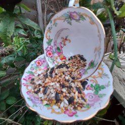 "Vintage teacup bird feeder ""Harriet"" 3"