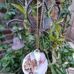 "Vintage teacup bird feeder ""Connie"" 3"