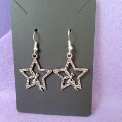 Sterling Silver Tibetan Silver Fairy in Star Earrings