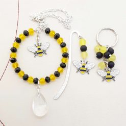 Bumble Bee Gift Set. Keyring, Sun Catcher and Bookmark