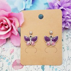 -Individually Priced- Butterfly (Purple) Necklace, Earrings, JewellerySet | Tibetan Silver Charm Birthday Christmas Mothers Mother's Day Valentine Anniversary Easter Lavender Butterflies Gifts Gift Set Ideas 3