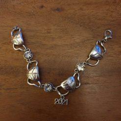 Bracelet silver face mask charms 2021