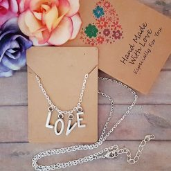 'Personalised' Word Alphabet Initial Tibetan Silver Charm Necklace | Birthday Christmas Mothers Mother's Day Valentine Anniversary Easter Jewellery Gift Ideas | Charming Gifts