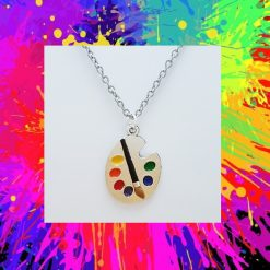 -Individually Priced- Artist Paint Pallet Necklace, Earrings Jewellery   Tibetan Silver Charm Birthday Christmas Mothers Mother's Day Valentine Anniversary Easter Gift Set Ideas   Charming Gifts 1