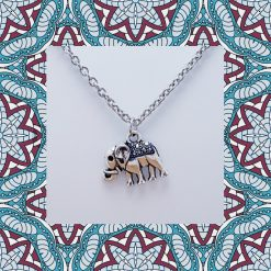 'Animal' Elephant Necklace | Tibetan Silver Birthday Christmas Mothers Mother's Day Valentine Anniversary Easter Jewellery Gift Ideas | Charming Gifts