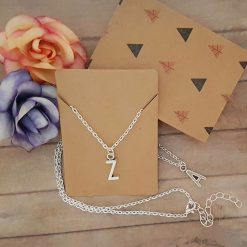 'Personalised' Alphabet Initial Tibetan Silver Charm Necklace | Birthday Christmas Mothers Mother's Day Valentine Anniversary Easter Jewellery Gift Ideas | Charming Gifts