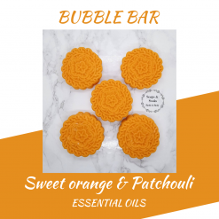 Handmade sweet orange and patchouli bubble bars/solid luxury bubble bath ,free postage uk ,CPSR ,Cruelty free ,Vegan ,