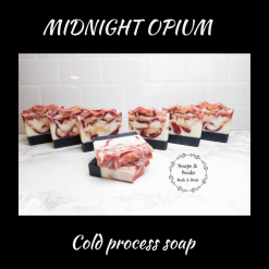 Handmade Artisan MIDNIGHT OPIUM (Perfume inspired ) cold process soap, Free postage uk ,CPSR , Cruelty free , Vegan friendly .