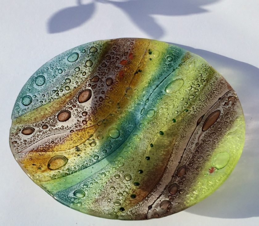 Fused Glass Woodland Bowl