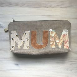Embroidered 'Mum' Zip Pouch
