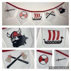 Red Viking Bunting
