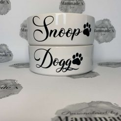 Personalised Pet Bowl | Large | Dog | Cat | Ceramic