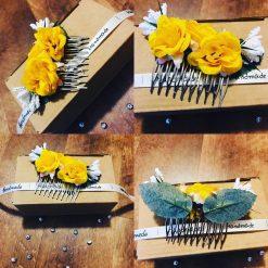 Handmade Silk Flower Hair Slide.