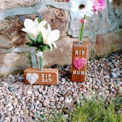 Handmade Grave Vase , reclaimed wood, personalised