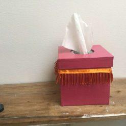 Tissue box square cover
