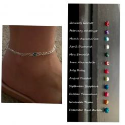 Silver Braided Anklet | Personalised Anklet