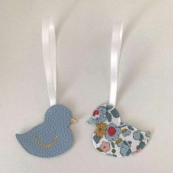 Easter decorations made with Liberty tana lawn and faux leather 11